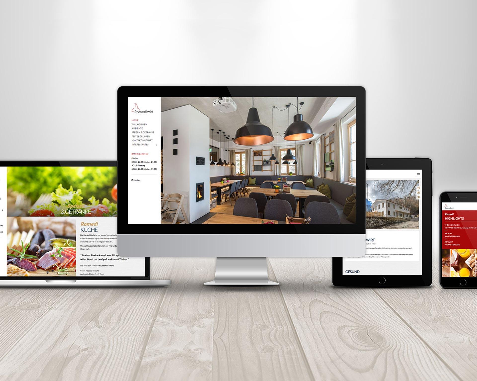 Werbeagentur - agentur 13 Tirol, Romediwirt Webdesign