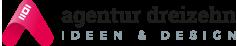 agentur 13 – IDEEN & DESIGN in Tirol – Werbeagentur Logo