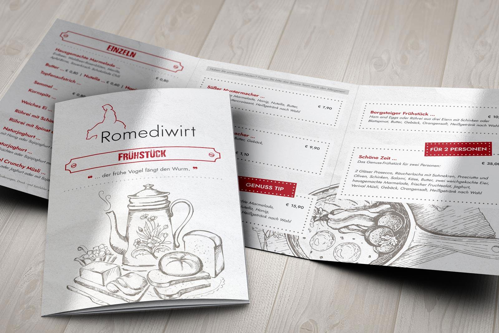 Werbeagentur - agentur 13 Tirol, Romediwirt Grafikdesign